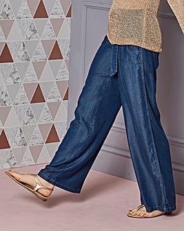 Relaxed Wide Leg Tencel Trousers Reg