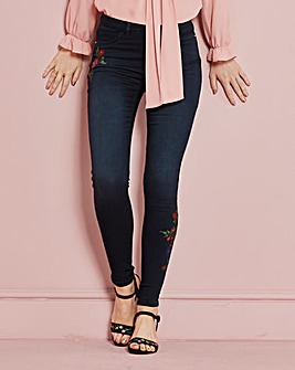 Sophia Embroidered Jeggings Reg