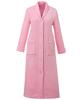 "Pretty Secrets Button Fleece Gown 48"""