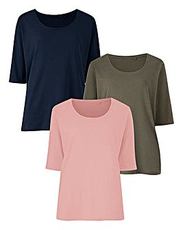 Pack Of 3 Basic Short Sleeve T-Shirts