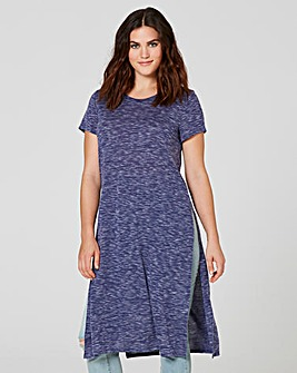Indigo Side Split Space Dye Tunic
