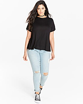 Black Short Sleeve Swing T-shirt