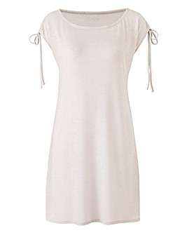 Metallic Ruched Shoulder Tunic