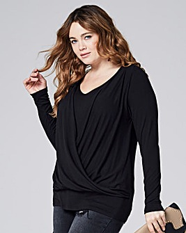 Wrap Front V Neck Top