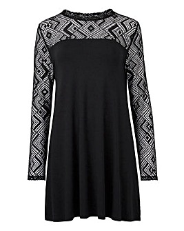 Lace Trim Tunic