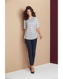 Glitter Stripe Twist Side Tshirt