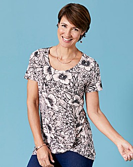 Blush Print Twist Knot Top