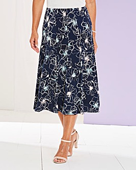 Print Jersey Panelled Skirt 27in