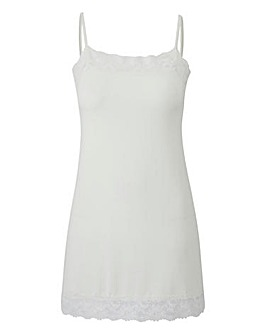 Ivory - Lace Trim Swing Camisole