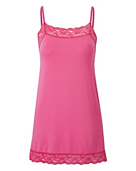 Hot Pink - Lace Trim Swing Camisole