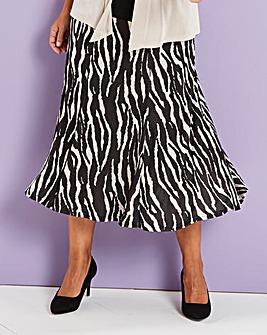 Printed Slinky Skirt 29in