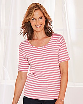 Short Sleeve Stripe T Shirt
