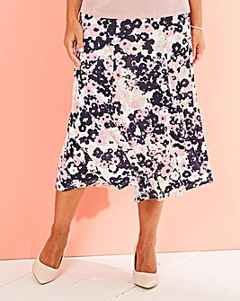 Print Slinky Skirt 29in