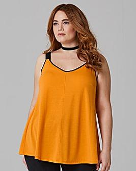Saffron Woven Strap Swing Cami Top