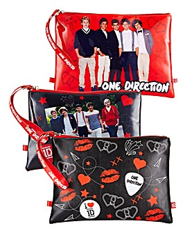 One Direction set of Three Cosmetic Bag