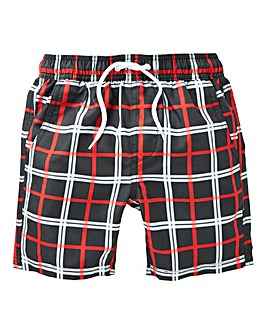 KD Boys Check Swim Shorts