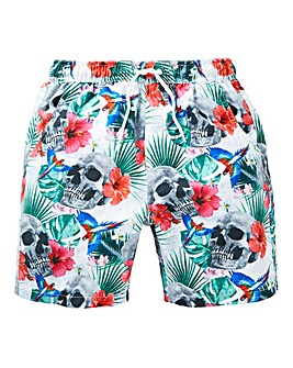 KD Boys Skull Print Swim Shorts