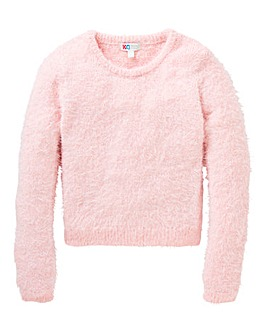 KD Girls Knitted Fluffy Jumper