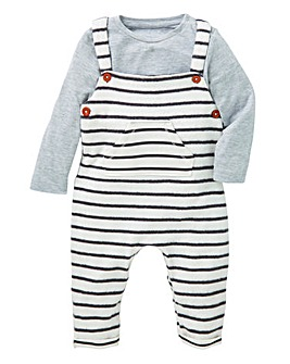 KD Baby Dungaree and T-Shirt Set