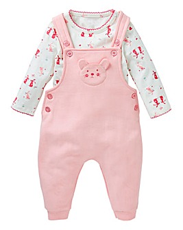 KD Baby Girl Dungaree Set