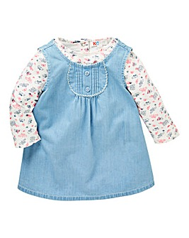 KD Baby Girl Denim Dress and T-Shirt