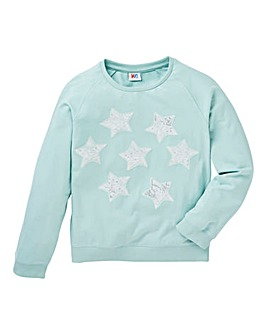 KD Girls Sequin Star Sweatshirt
