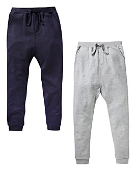 KD Boys Pack of Two Fleece Jog Pants
