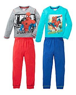 Pack of Two Spiderman Pyjamas