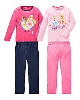 Disney Princess Pack of Two Pyjamas