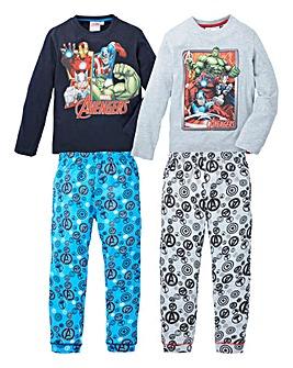 Avengers Pack of Two Pyjamas
