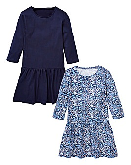 KD Girls Pack of Two Jersey Dresses