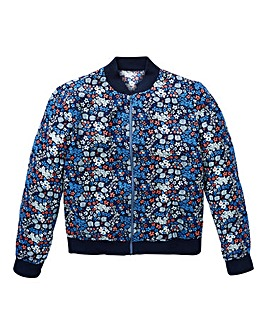 KD Girls Floral Bomber Jacket