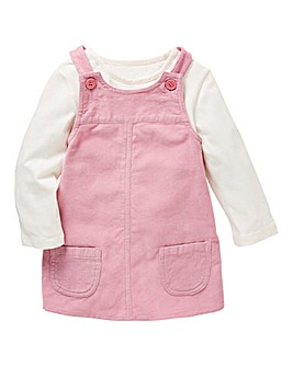 KD Baby Cord Dungaree Dress Set