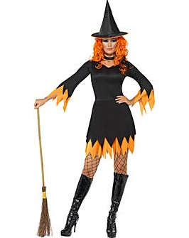 Halloween Black/Orange Witch Costume