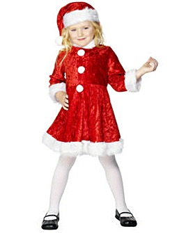 Girls Christmas Mini Miss Santa Costume