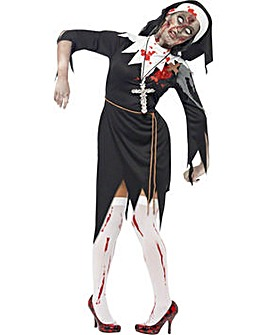 Halloween Ladies Zombie Nun Costume