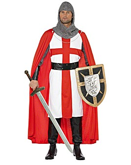 Mens England St George Medieval Costume