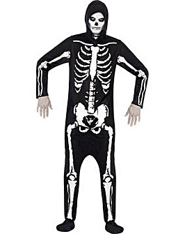 Halloween Adult Onesie Skeleton Costume
