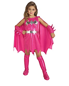 Girls Deluxe Pink Batgirl Costume