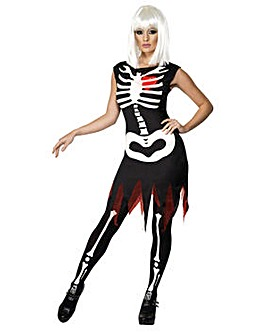 Ladies Bright Bones Skeleton Costume