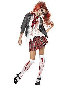 Ladies Zombie Schoolgirl Costume