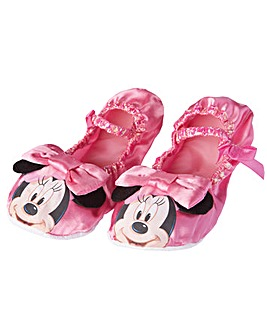 Girls Minnie Mouse Slippers