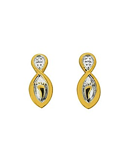 Footprints Diamond Set Earrings