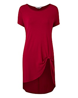 Cherry Short Sleeve Knot Detail Tunic