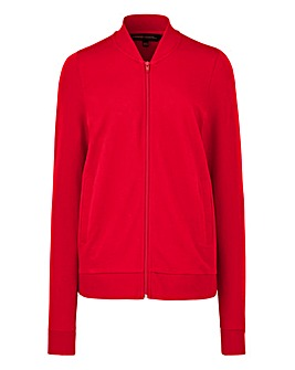 Red Jersey Bomber Jacket