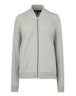 Grey Marl Jersey Bomber Jacket