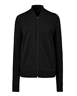 Black Jersey Bomber Jacket