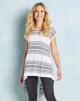 Grey/White Split Back TShirt