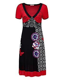 Joe Browns Tribal Print V Neck Dress