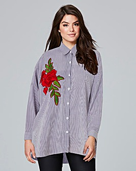 AX Paris Stripe Embroidered Blouse